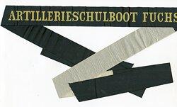 """Reichsmarine Mützenband """"Artillerieschulboot Fuchs"""""""