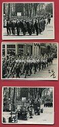 Foto, Aufmarsch von Mitgliedern der NSDAP und der Hitlerjugend