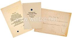 III. Reich - Deutscher Adlerorden Großkreuz mit Schwertern : große Verleihungsurkunde an den Verteidigungsminister von Rumänien Constantin Pantazi
