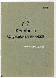 Kennbuch für einen russischen Freiwilligen in der deutschen Wehrmacht