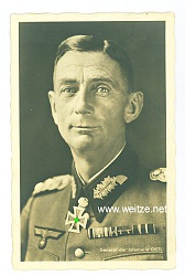 Heer - Portraitpostkarte von Ritterkreuzträger General der Infanterie Eduard Dietl