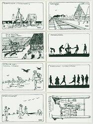 Sammlung von 8 Postkarten