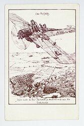 "Fliegerei 1. Weltkrieg - "" Der Faulpelz "" humorvolle Postkarte"