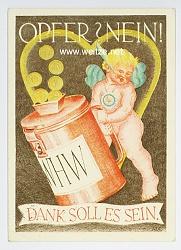 III. Reich - farbige Propaganda-Postkarte - WHW Gau 19 : München-Oberbayern - Gausammlung Januar 1939