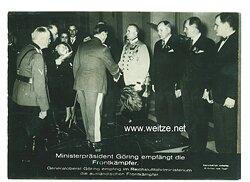 III. Reich - Pressefoto - Bildschau des Tages - Ministerpräsident Göring empfängt die Frontkämpfer