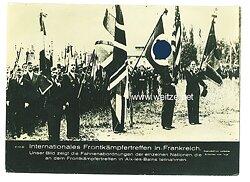 III. Reich - Pressefoto - Bildschau des Tages - Internationales Frontkämpfertreffen in Frankreich