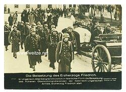 III. Reich - Pressefoto - Bildschau des Tages - Die Beisetzung des Erzherzogs Friedrich