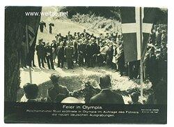 III. Reich - Pressefoto - Bildschau des Tages - Feier in Olympia