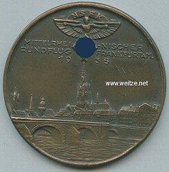 """NSFK bronzene Erinnerungs-Medaille """"Mittelrheinischer Rundflug Frankfurt a.M. 1938"""""""