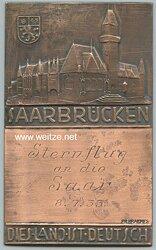 """Erinnerungplakette """"Sternflug an die Saar 8.7.33"""""""