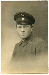 Portraitfoto, Angehöriger des Deutschen Bahnschutz