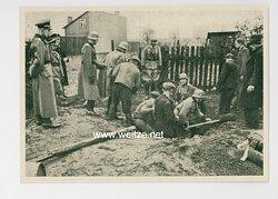 SS / Polizei - Propaganda-Postkarte - KWHW-1939/40 - Bilder vom Einsatz unserer Polizei im Osten