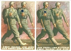III. Reich - 2 farbige Propaganda-Postkarten -