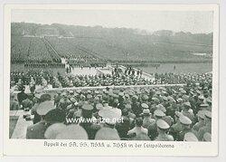 """III. Reich - Propaganda-Postkarte - """" Reichsparteitag - Appell der SA, SS, NSKK und NSFK in der Luitpoldarena """""""