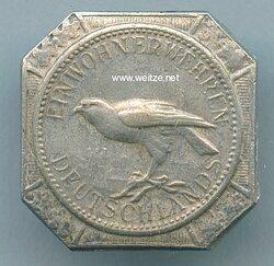 Silberner Falkenknopf der Preußischen Einwohnerwehren,