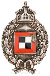 "Prussia : military observer badge - marked C.F. Juncker Berlin and halfmoon "" 800 """