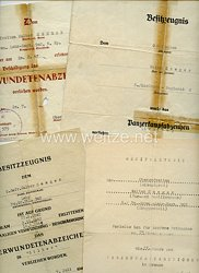 Heer - Urkundengruppe für einen späteren Obergefreiten der 6./Pz.Gren.Lehr-Regt.902 mit dem Panzerkampfabzeichen in Bronze mit Einsatzzahl 75
