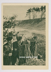 "SA - Propaganda-Postkarte - "" Bewegung im Gelände """