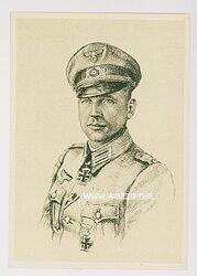 Heer - Propaganda-Postkarte von Ritterkreuzträger Hans Hecker