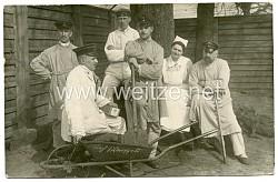 1. Weltkrieg Foto, Verwundete Soldaten in einem Lazarett