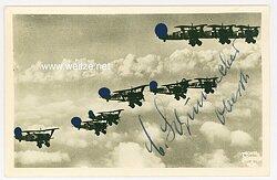 Luftwaffe - Originalunterschrift von Ritterkreuzträger Oberst Carl Schumacher