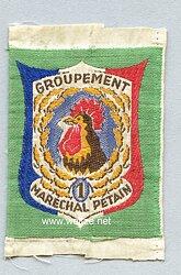 Frankreich 2.Weltkrieg Vichy Regierung, Stoffabzeichen für die Jugendbewegung,