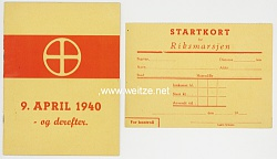 Norwegen - Heftchen der Nasjonal Samling ( NS ) zum 9. April 1940 - og derefter - ( und dann ).