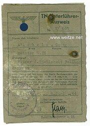 Technische Nothilfe ( TeNo ) - TN-Unterführer-Ausweis