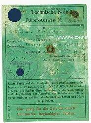 Technische Nothilfe ( TeNo ) - Führer-Ausweis ( Reichsamt )