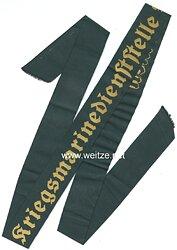 """Kriegsmarine Mützenband """"Kriegsmarinedienststelle Bremen"""""""