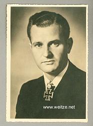 Kriegsmarine - Portraitpostkarte von Ritterkreuzträger Korvettenkapitän Heinrich Bleichrodt