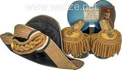 Kaiserliche Marine Zweispitz aus dem Besitz von Vizeadmiral Wilhelm von Lans um 1914.