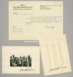 III. Reich - Originalunterschriften von Carl Röver - Reichsstatthalter in Oldenburg und Bremen, Gauleiter Weser-Ems