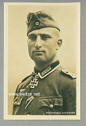 Heer - Portraitpostkarte von Ritterkreuzträger Oberfeldwebel Josef Portsteffen
