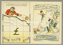 "III. Reich - französische farbige Propaganda-Postkarte pro Deutschland - "" Depuis le printemps 1940, les prix de gros..."""