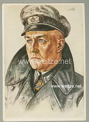 Heer - Willrich farbige Propaganda-Postkarte - Ein Regimentskommandeur