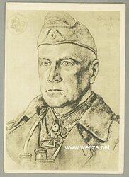 Heer - Willrich farbige Propaganda-Postkarte - Ritterkreuzträger Generalleutnant Ludwig Crüwell