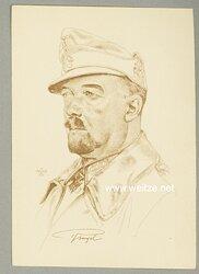 Heer - Willrich farbige Propaganda-Postkarte - Ritterkreuzträger Generalmajor Julius Ringel