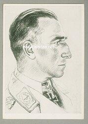 Luftwaffe - Willrich farbige Propaganda-Postkarte - Ritterkreuzträger Major Martin Harlinghausen