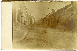 Foto Erster Weltkrieg: Frankreich Strasse von Auménancourt