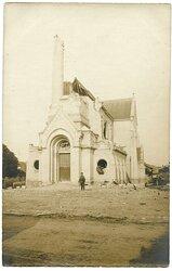 Foto Erster Weltkrieg: Frankreich zerstörte Kirche von Pontfaverger