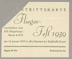 NSFK - NS-Fliegerkorps Sturm 8/45/8 - Eintrittskarte zum Flieger-Fest 1939