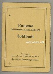 Russische Befreiungsarmee ( POA ) - Soldbuch