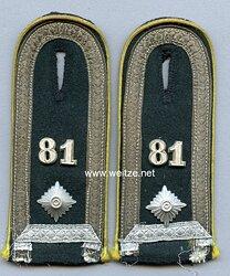 Wehrmacht Heer Paar Schulterklappenfür einen Feldwebel Nachrichten - Abteilung 81