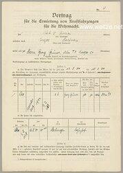 Vertrag für die Ermietung von Kraftfahrzeugen für die Wehrmacht