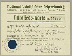 Nationalsozialistischer Lehrerbund ( NSLB ) - Mitgliedskarte