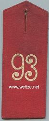 Anhalt Einzel Schulterklappe für Mannschaften im Reserve-Infanterie-Regiment Nr. 93