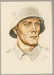 """III. Reich - farbige Propaganda-Postkarte - """" Tag der Wehrmacht 1940 """""""