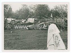 Pressefoto, Flüchtlingstypen aus der Gegend von Radom-Kielce bei der Vorbeifahrt von Adolf Hitler an die Front 1939