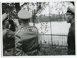 Foto Adolf Hitlers Stab bei einer Inspektion in Polen 1939